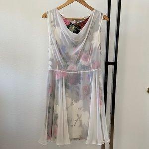 Jonathan Saunders Dress Tazette Overlay Sz 6